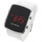 Stylish Digital Red LED Wrist Watch with Date Display - White (1 x CR2016)