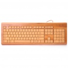 104-Key Slim USB Semi-Bamboo Wired Keyboard (100CM-Cable)