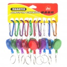 Carabiner Clip Keychain with Retractable Nylon Strap - Color Assorted