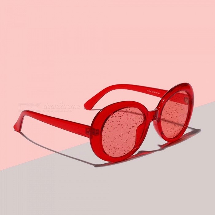 f81d001b110 Glitter Tinted Lens Sunglasses Women Classic Kurt Cobain Glasses  Transparent Oval Frame Hippie Sparkly Shades For Women Red - Free shipping  - DealExtreme