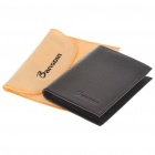 Fashion Real Leather Folding Men Wallet - Coffee