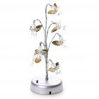 USB/3xAA Powered Angel 7-LED Colorful Light Flexible Neck Desk Lamp