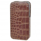 Protective PU Leather Case for iPhone 4 - Brown