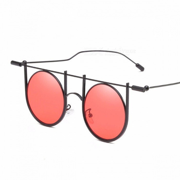 Stylish Retro Alloy Frame Sunglasses For Men Fashion UV400 Protection  Sunglasses Round Lens Silver 9a0d9727b6