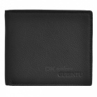 Fashion Real Leather Folding Men Wallet - Black