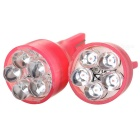 5-LED Vehicle Signal Lights 2-Pack (12V T15 Red)