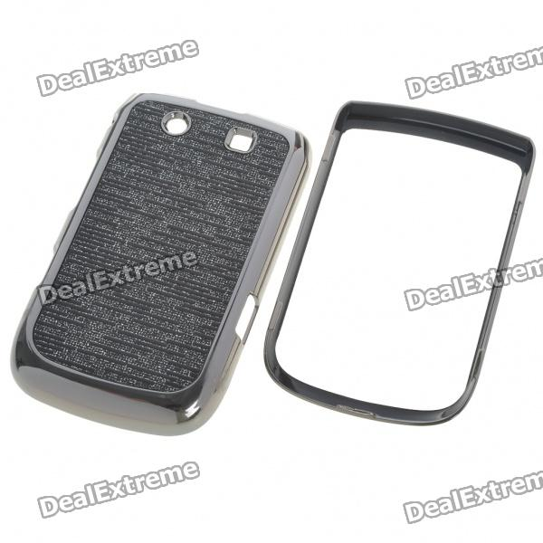 Replacement Electroplating PC Housing Case for BlackBerry 9800 - Black