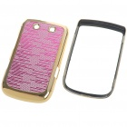 Replacement Electroplating PC Housing Case for BlackBerry 9800 - Pink