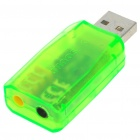 Virtual 5.1 Channel USB Sound Card Adapter - Green