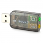 Virtual 5.1 Channel USB Sound Card Adapter – Black