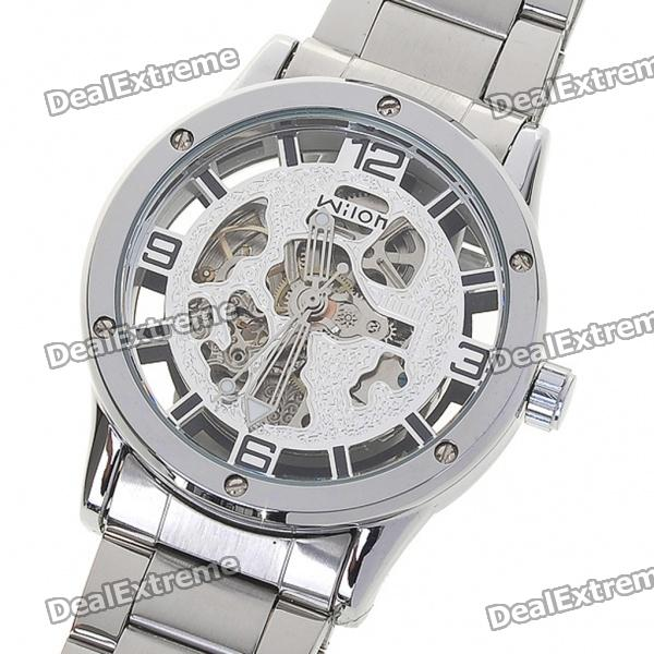 Wilon All-Steel Self-Winding Mechanical Wristwatch - Silver