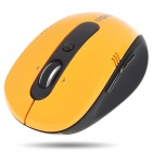 2,4 GHz Wireless Optical Mouse mit 500/1000CPI Receiver - Orange + Schwarz (1 x AA)