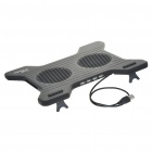 "Dual Fan USB Cooling Pad with USB 4-Port Hub for 7~15"" Laptop Notebook - Black (40CM-Cable)"