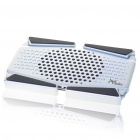 "Compact USB Cooling Pad with USB 3-Port Hub for 7~15"" Laptop Notebook - Black + Silver"