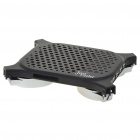 "Compact USB Cooling Pad with USB 4-Port Hub for 7~15"" Laptop Notebook - Black + Silver"