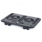 "Dual Fan USB Cooling Pad for 7~14"" Laptop Notebook - Color Assorted"