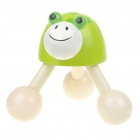 Cute Cartoon Frog Wooden Ball Massager - Green