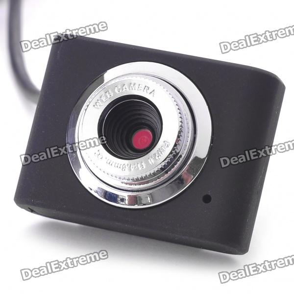 300K Pixel CMOS PC USB 2.0 Webcam with Clip for Notebook - Black (60CM-Cable)