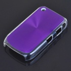 Protective PC + Aluminum Backside Cover for BlackBerry 8520 - Purple