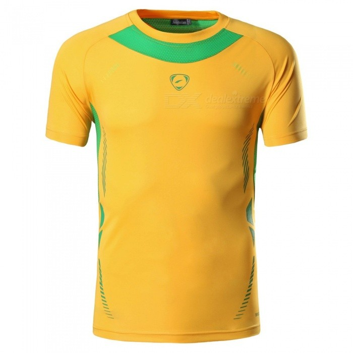 Men/'s Short Sleeve T-Shirt Sport Fitness Quick Dry Compression Top Athletic Wear