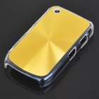 Protective PC + Aluminum Backside Cover for BlackBerry 8520 - Golden