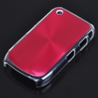 Protective PC + Aluminum Backside Cover for BlackBerry 8520 - Red