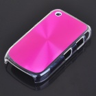 Protective PC + Aluminum Backside Cover for BlackBerry 8520 - Pink