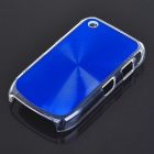 Protective PC + Aluminum Backside Cover for BlackBerry 8520 - Blue