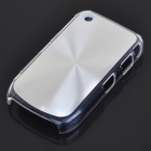 Protective PC + Aluminum Backside Cover for BlackBerry 8520 - Silver