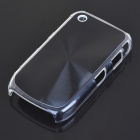 Protective PC + Aluminum Backside Cover for BlackBerry 8520 - Black