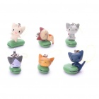 Cute Ddcatlee Cartoon Figure Cell Phone Straps (6-Pack)