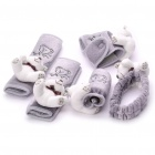 Universal Lovely Bear Car Safety Belt + Rearview Mirror + Parking Brake + Gear Stick Sleeves/Covers