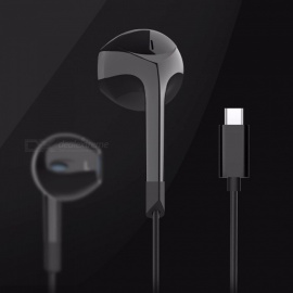 E6T New TYPE C Earphones In-ear Wired Headset MIX2 Universal Headphones For Letv Note 3 Black