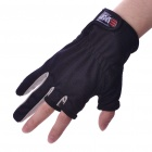 Professional Two Fingers Fishing Anti-Slip Gloves - Black (Pair)