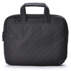"Protective Nylon Bag with Shoulder Strap for 10"" Laptop Notebook - Gray Black"