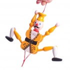 Vintage Wooden Mechanical Marionette Puppet Toys - Yellow