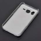 Protective PC + Aluminum Back Case for HTC Desire HD - Silver