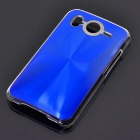 Protective PC + Aluminum Back Case for HTC Desire HD - Blue