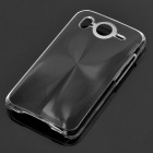 Protective PC + Aluminum Back Case for HTC Desire HD - Black