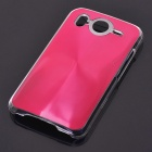 Protective PC + Aluminum Back Case for HTC Desire HD - Red