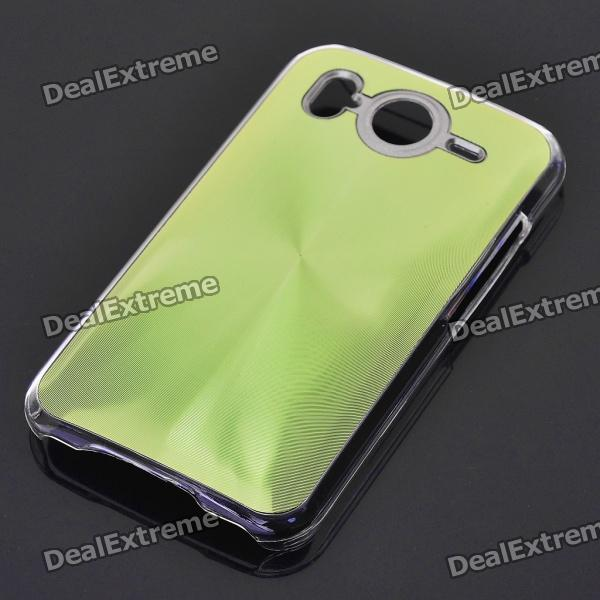 Protective PC + Aluminum Back Case for HTC Desire HD - Green
