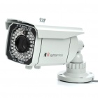 1/3 SONY CCD Waterproof Surveillance Security Camera with 65-LED Night Vision - White (DC 12V)