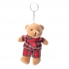 Cute Teddy Bear Plush Toy Doll with Keychain - Color/Style Assorted