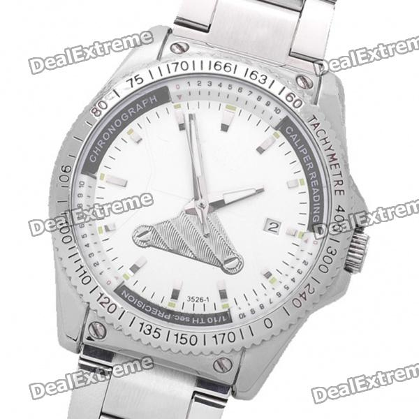 DayBird Auto Mechanical Steel Wrist Watch with Date Display