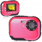 Waterproof 3.0MP CMOS Compact Digital Camera w/ 8X Digital Zoom/TF Slot - Red (2xAAA/1.8