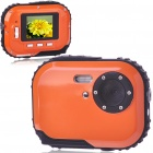 "Waterproof 3.0MP CMOS Compact Digital Camera w/ 8X Digital Zoom/TF Slot - Orange (2xAAA/1.8"" LCD)"