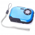 "Waterproof 3.0MP CMOS Compact Digital Camera w/ 8X Digital Zoom/TF Slot - Blue (2xAAA/1.8"" LCD)"