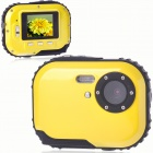 Waterproof 3.0MP CMOS Compact Digital Camera w/ 8X Digital Zoom/TF Slot - Yellow (2xAAA/1.8
