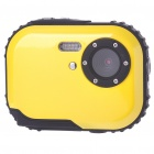 "Waterproof 3.0MP CMOS Compact Digital Camera w/ 8X Digital Zoom/TF Slot - Yellow (2xAAA/1.8"" LCD)"
