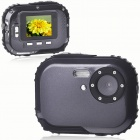 "Waterproof 3.0MP CMOS Compact Digital Camera w/ 8X Digital Zoom/TF Slot - Black (2xAAA/1.8"" LCD)"
